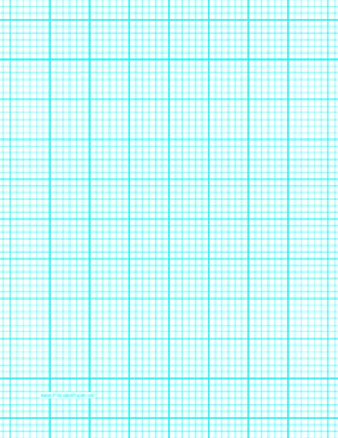 Printable Graph Paper with six lines per inch and heavy