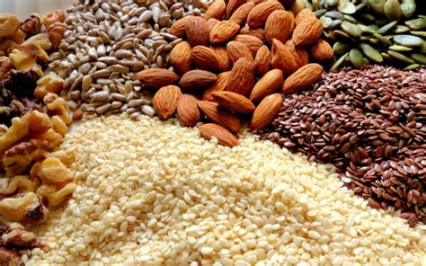 whole grains nuts and seeds nuts and seeds that support collagen production in the