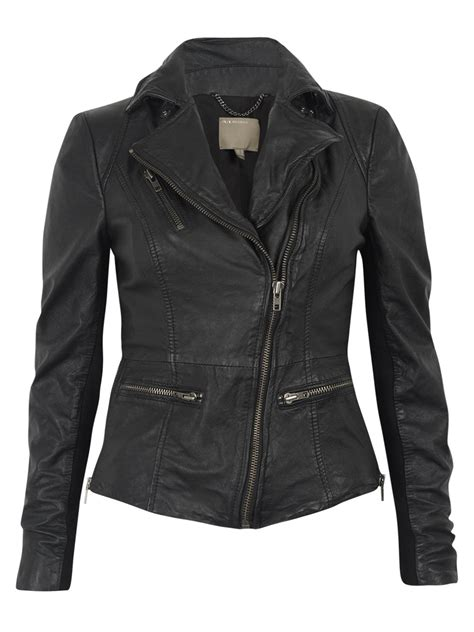 muubaa leather jackets muubaa sirius black leather biker jacket
