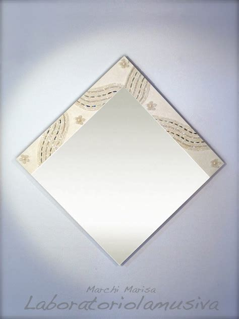 cornice mosaico specchio con cornice in legno rivestita mosaico specchi