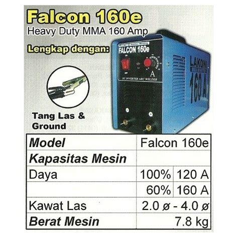 Ryu Igbt160 Mesin Las 1300 Watt lakoni falcon 160e mesin las 160a