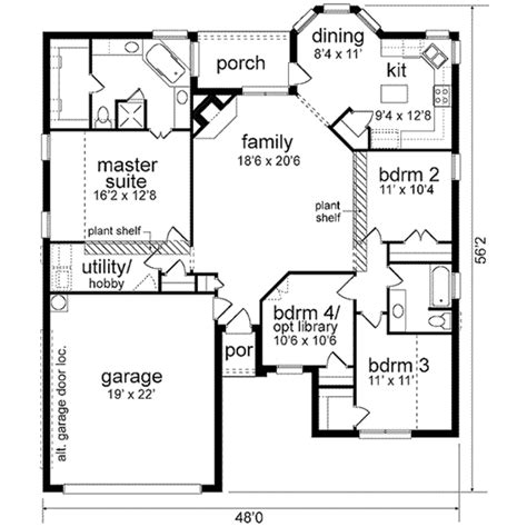 traditional plan 2 525 square feet 4 bedrooms 3 southern style house plan 4 beds 2 baths 1768 sq ft plan