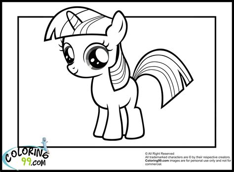 pony twilight sparkle coloring pages team colors