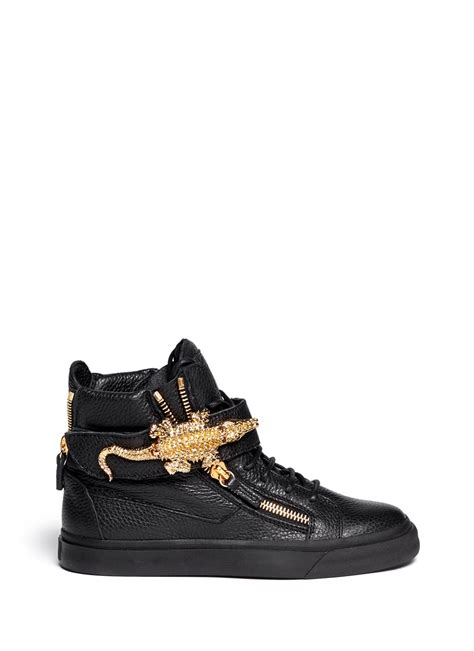 alligator sneakers lyst giuseppe zanotti alligator leather sneakers