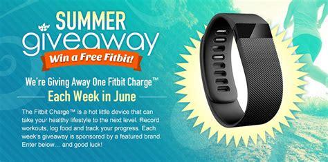 Free Entry Sweepstakes - summer giveaway enter to win a free fitbit swanson 174