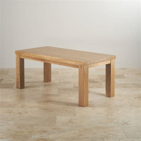 oak dining tables contemporary chunky 6ft solid oak