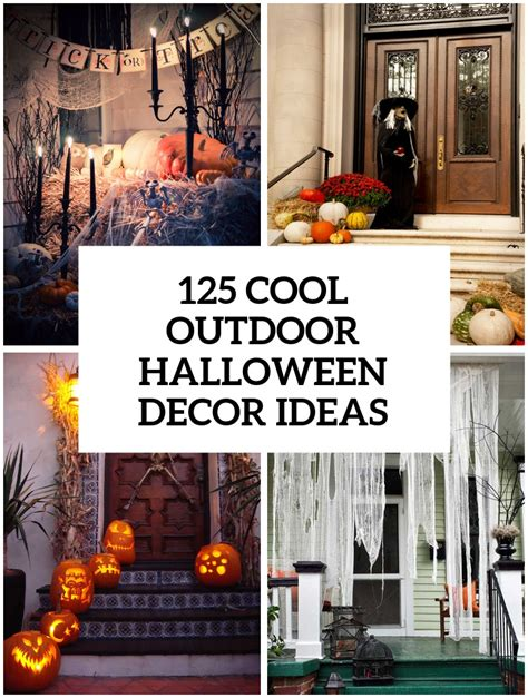 ideas outdoor halloween decoration ideas to make your 125 cool outdoor halloween decorating ideas digsdigs