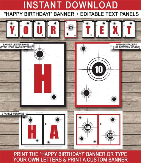 laser printable gift tags laser tag party banner template birthday banner