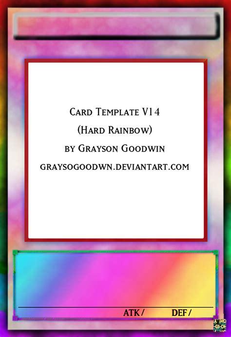 yugioh card levels template yu gi oh card template v13 rainbow by graysogoodwn