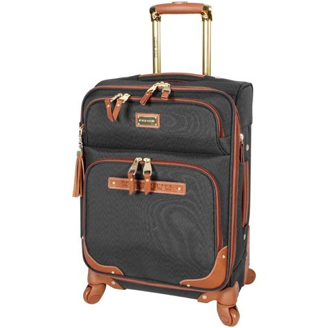 new steve madden 20 quot carry on softside expandable luggage with spinner wheels ebay