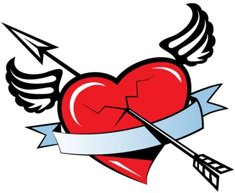 imagenes corazon rockero dibujos de corazones con alas para dibujar y colorear bonitos