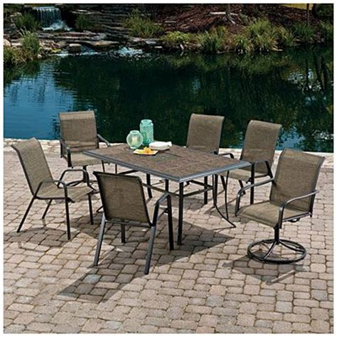 Patio Dining Sets At Big Lots Wilson Fisher 174 Monterra 7 Sling Dining Set Big