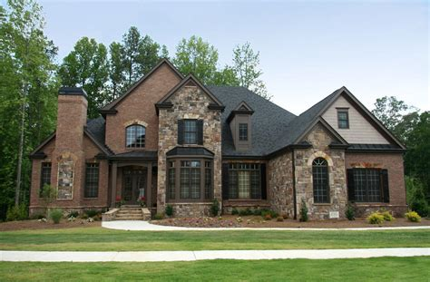 brick house traditional home designs awesome stone combination wall