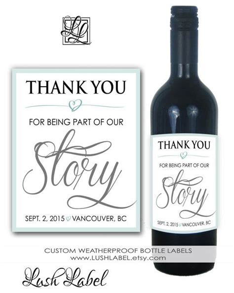 wedding invitation wine bottle labels 1000 images about parents in laws thank you bottle