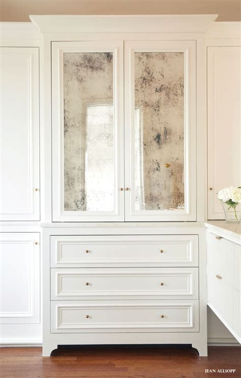 Built In Cupboards With Mirror Best 25 Antiqued Mirror Ideas On Distressed