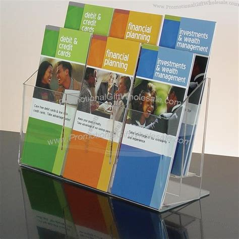 Brochure Racks Countertop by 6 Pocket Clear Acrylic Brochure Holder Countertop Wall