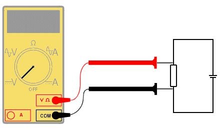 measuring voltage across a resistor with a multimeter measuring current voltage and resistance
