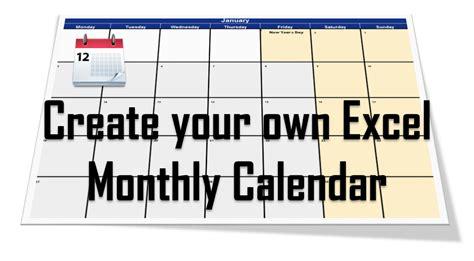 Calendar Generator Excel Calendar Generator Generate Calendar In Excel Vba