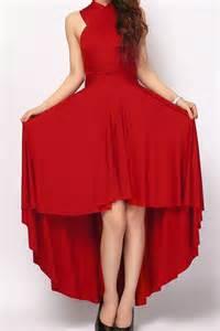 crimson color dress crimson high low infinity convertible bridesmaid dresses