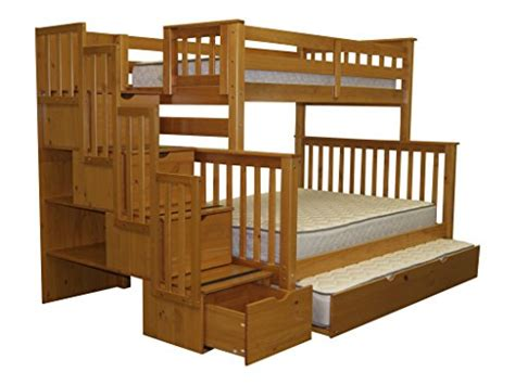 Bedz King Stairway Bunk Bed Product Reviews Buy Bedz King Stairway Bunk Bed With Trundle Honey
