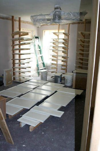 Make your own drying racks for painting cupboard doors