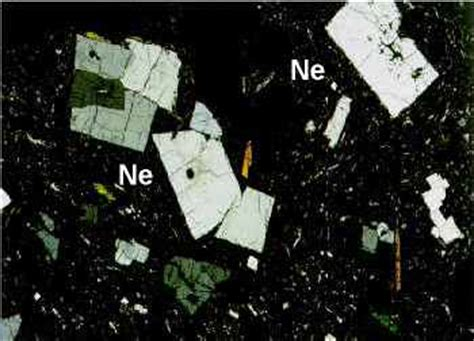 nepheline in thin section phonolites phonolite english