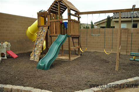 outdoor swing sets and how to prevent weeds in the run