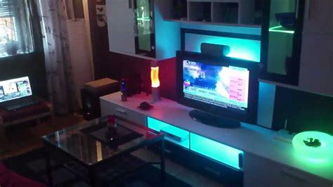 wohnwand beleuchtung ikea led dioder wohnzimmer indirekte beleuchtung living