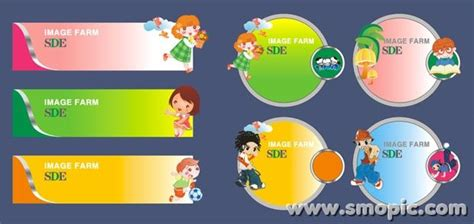 coreldraw banner design download children cartoon picture frame banner background design