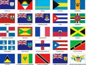 flags representing 25 caribbean nations click to