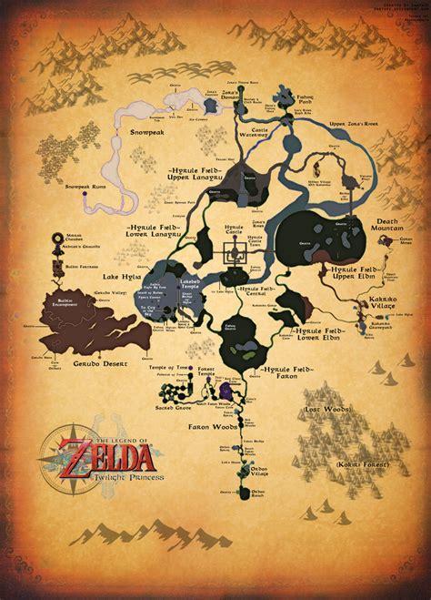 legend of zelda full map twilight princess full map by zantaff on deviantart