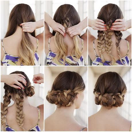 diy easy hairstyles step by step step by step braided hairstyles with pictures