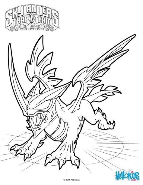 skylanders coloring pages games black dragon coloring sheet from the skylanders trap team