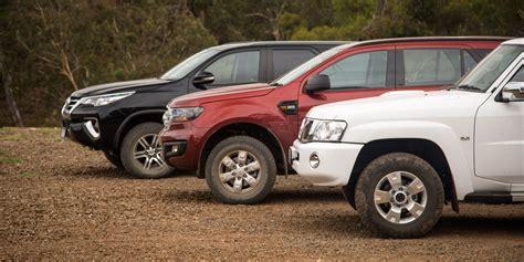 mitsubishi toyota family 4x4 suv comparison ford everest v isuzu mu x v
