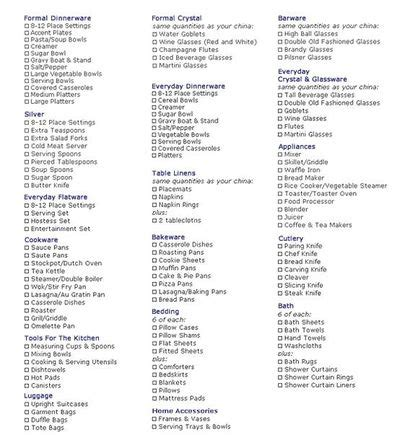 Wedding Registry List by Printable Wedding Registry List Wedding Ideas Juxtapost