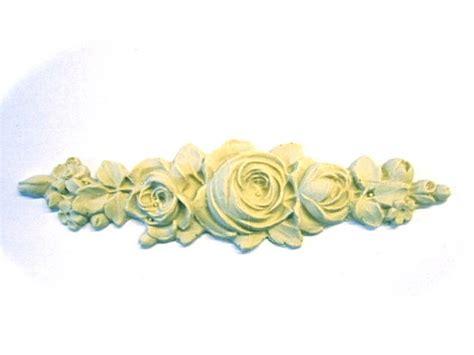 floral architectural furniture applique wood resin trims