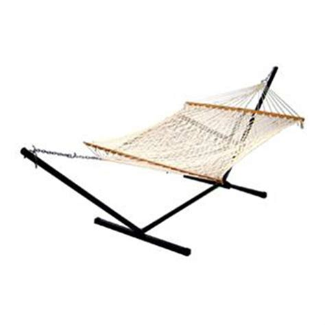 Rope Hammock With Stand Algoma 2 Point Cotton Rope Hammock With Stand 180735