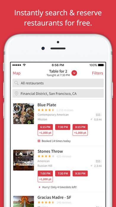 Open Table App by Opentable Restaurant Reservations On The App Store