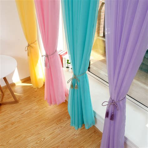 voile vorhang sheer curtains ready madetulle curtains for