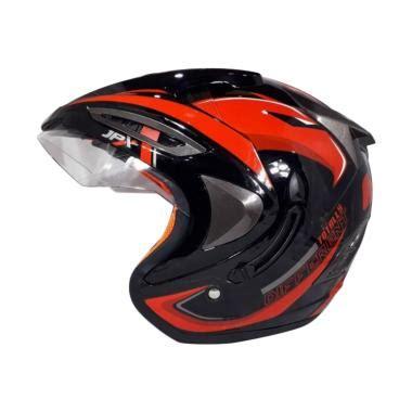 Helm Jpx Supreme Visor R2x Black Glossy moto helmet jakarta store blibli