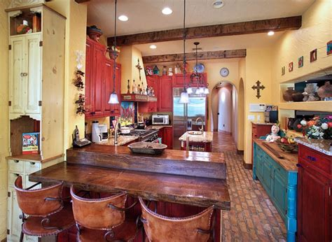 Mexican Kitchen Designs Mexican Kitchen Decor With Cabinet Paint Decolover Net