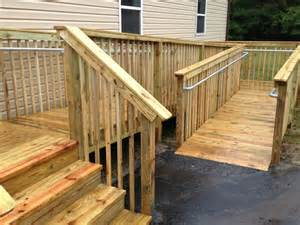 Wood Railing How To Add Ada Railing To A Wooden Access R