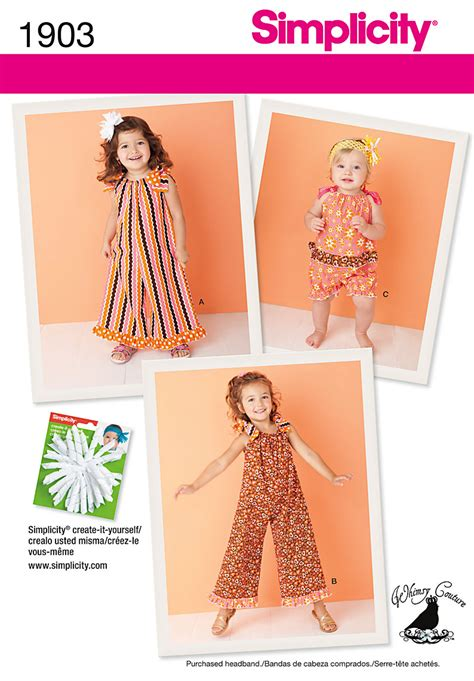 pattern of review article simplicity 1903 toddler s and child s romper
