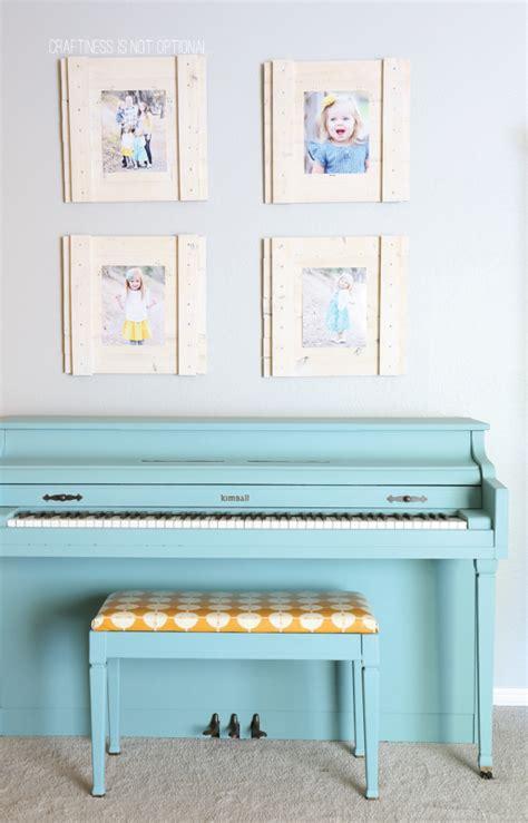 aqua chalk painted piano