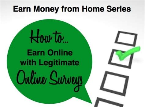 Legitimate Online Surveys For Money - make money doing online surveys
