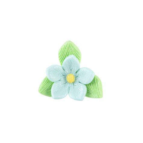 fiore di zucchero fiori di zucchero pronti colorati con foglioline in