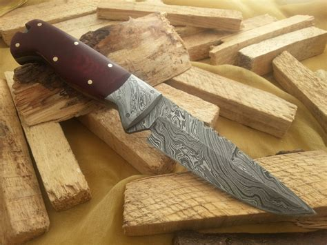Handmade For Sale - custom made damascus knife car interior design