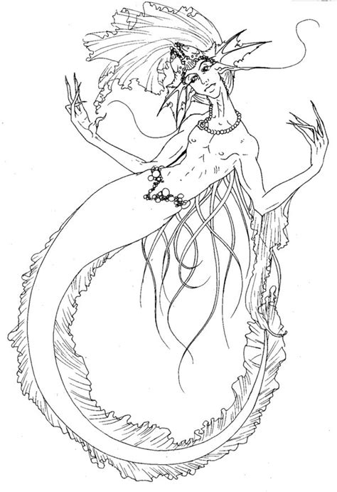 Merman Coloring Pages Merman Coloring Pages