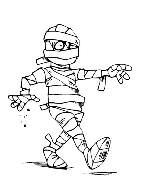 Free Ben Mummy Coloring Pages Mummy Coloring Page