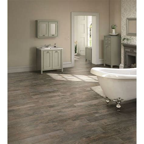 bathroom tile at home depot montagna rustic bay 6 in x 24 in glazed porcelain floor